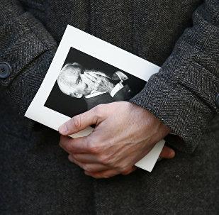Photo de Jean d'Ormesson le jour de l'hommage national
