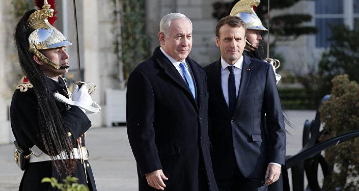 Benjamin Netanyahu et Emmanuel Macron à Paris