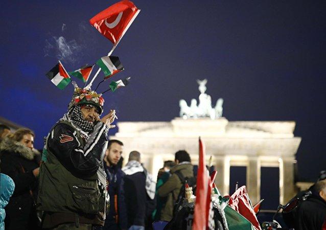 Manifestation anti-israélienne à Berlin