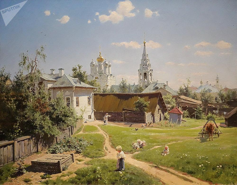 Vassili Polenov. Cour à Moscou. 1878