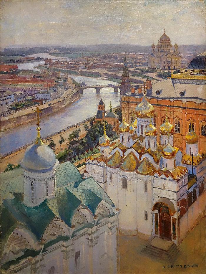 Nikolaï Gritsenko Moscou vue depuis le clocher d'Ivan le Grand. 1896