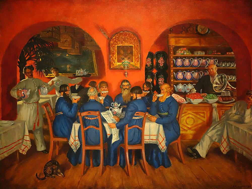 Boris Koustodiev. Une taverne moscovite. 1916