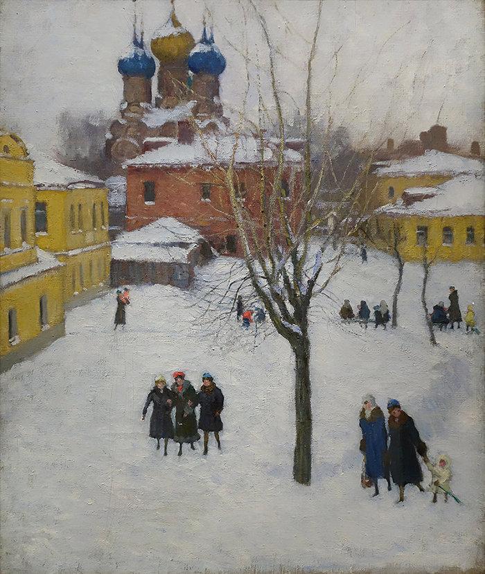 Igor Grabar. Une cour de passage à Zamoskvoretchié. 1941