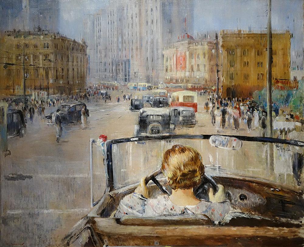 Youri Pimenov. La nouvelle Moscou. 1937
