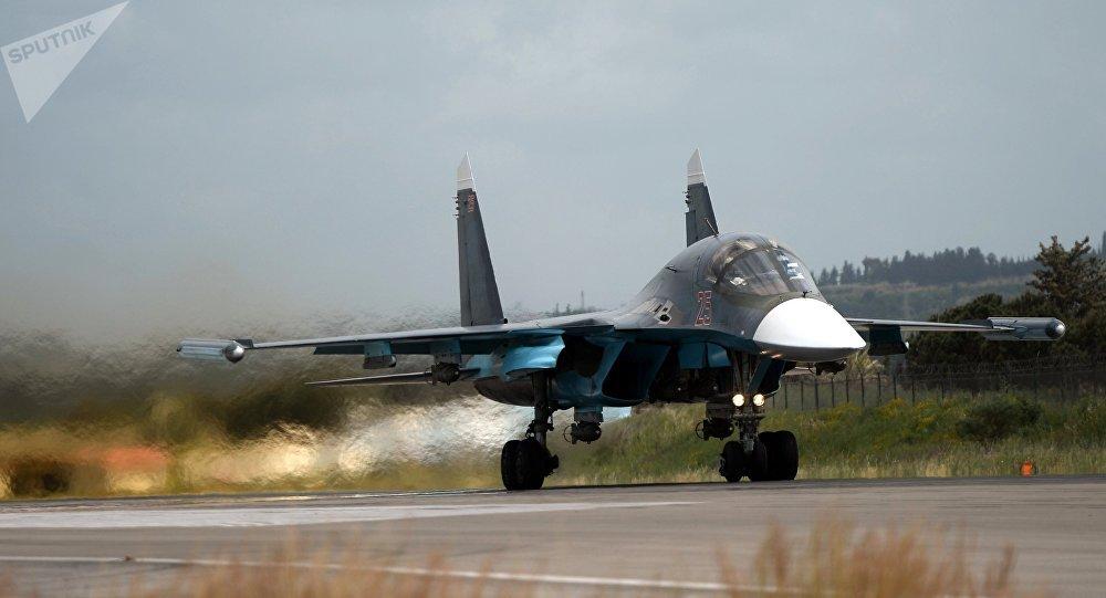 Un Su-34 en décollage en Syrie