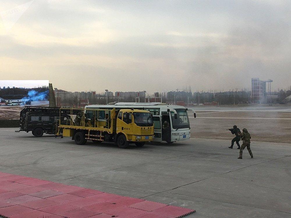 Manœuvres antiterroristes russo-chinoises en Chine
