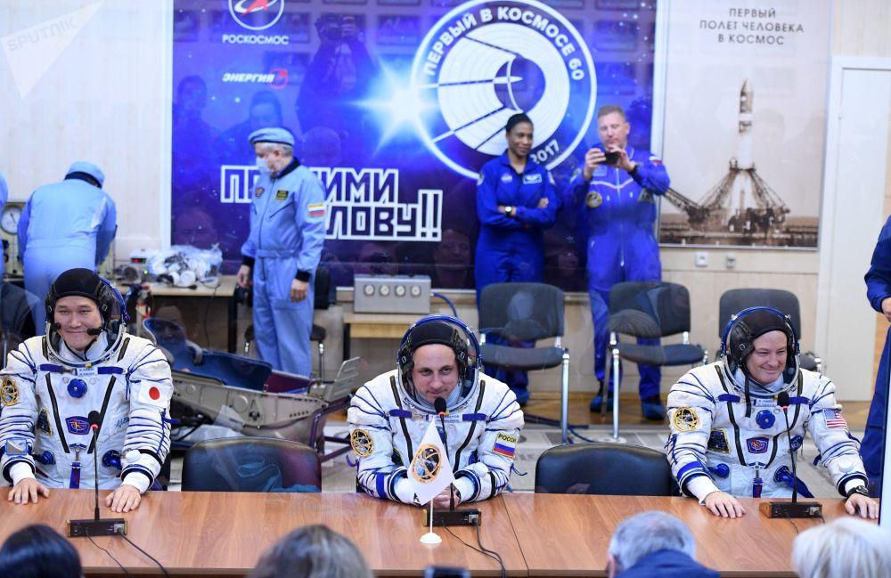 Lancement de la fusée Soyouz-FG avec la mission Soyouz MS-07 du cosmodrome de Baïkonour