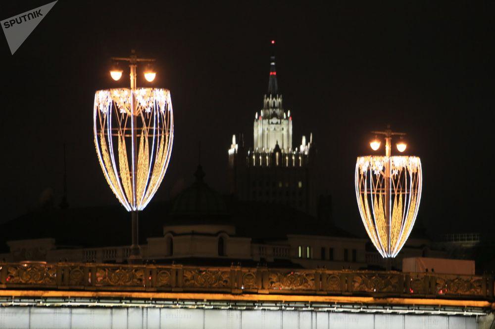 Illuminations de Noël à Moscou