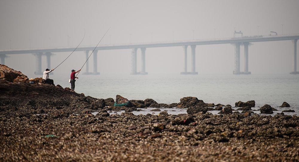 le pont qui reliera Hong Kong et Macao
