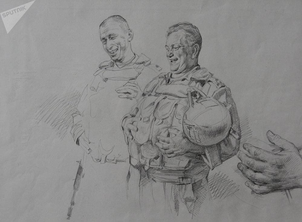 Esquisse du tableau «Lettre aux ennemis de la Russie»