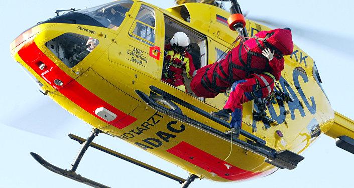 Un hélicoptère de la fédération allemande des automobilistes (ADAC)