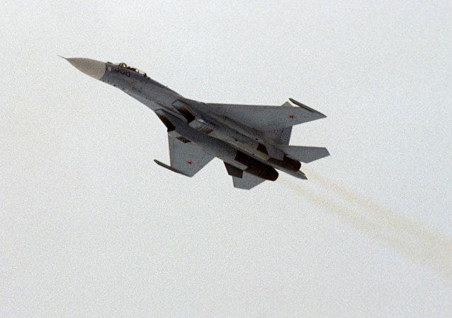Un chasseur Sukhoï Su-27