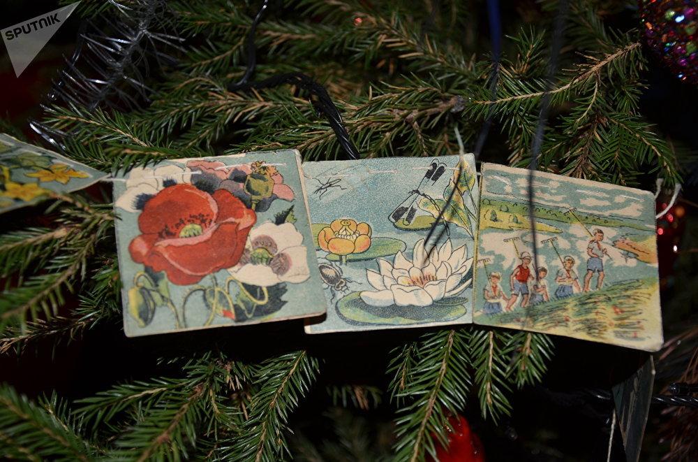 Drapeaux en papier pour sapin de Noël