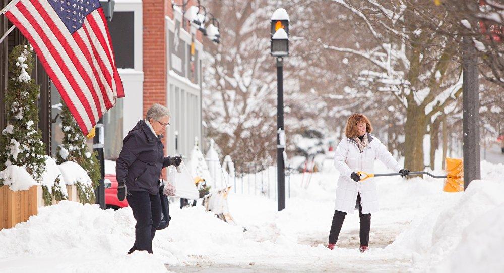 La neige aux États-Unis