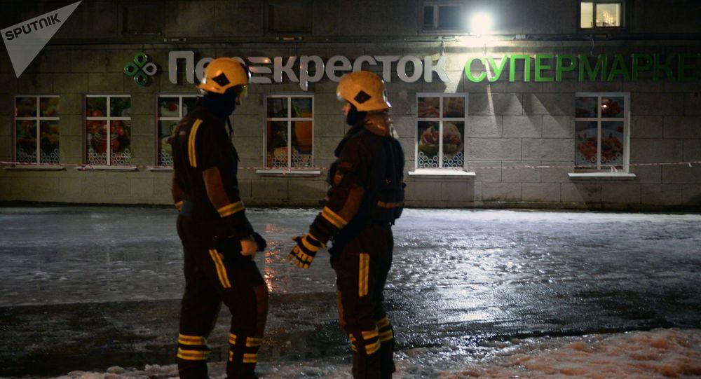 Explosion dans un supermarché à Saint-Pétersbourg
