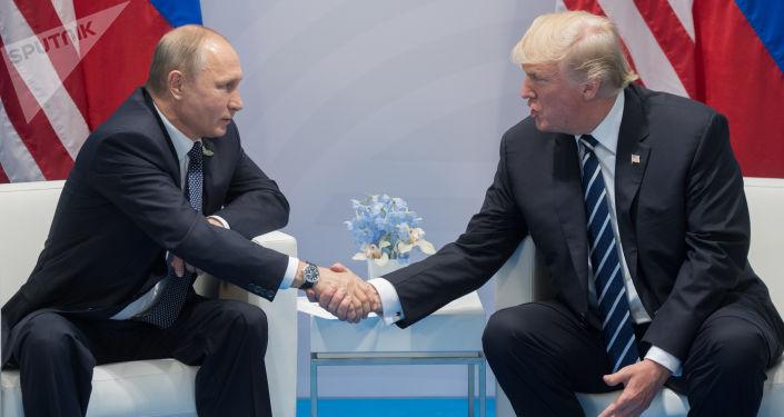Vladimir Poutine et Donald Trump lors du sommet du G20 à Hambourg