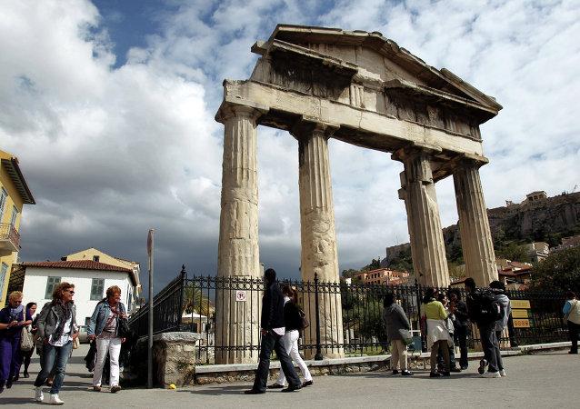 Des touristes en Grèce