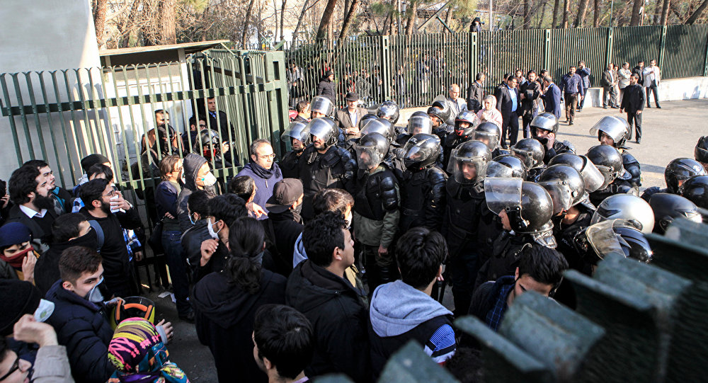 Iran,  protestation