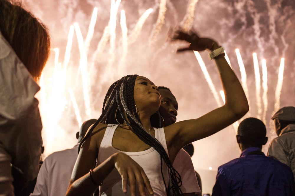Habitants d'Afrique du Sud célébrant le Nouvel An