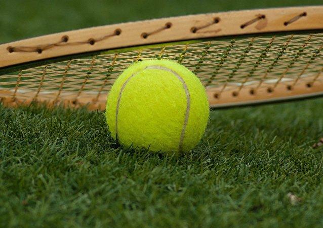 Une raquette de tennis