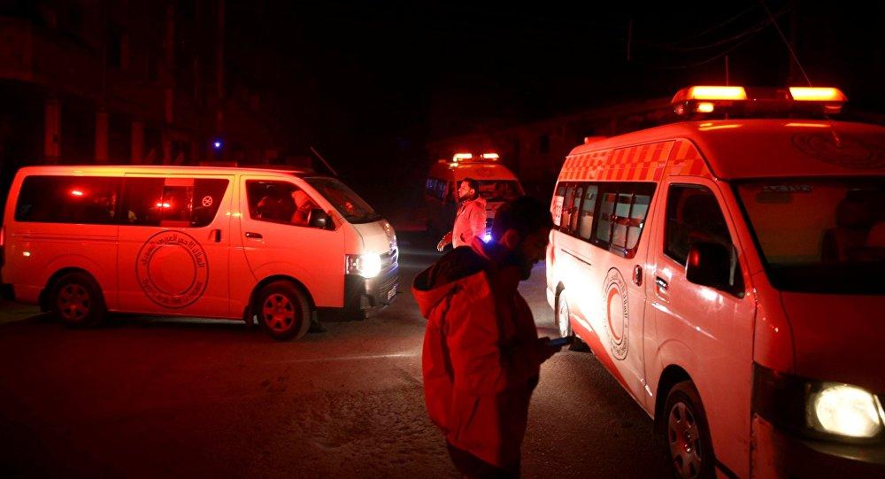 Ambulances à Damas. Photo d'archive
