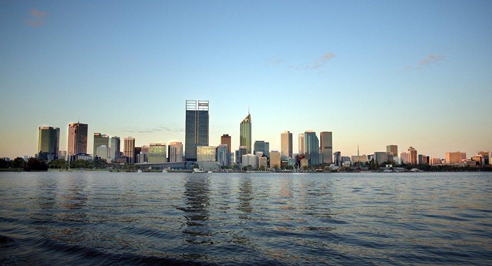Une vue de Perth, Australie