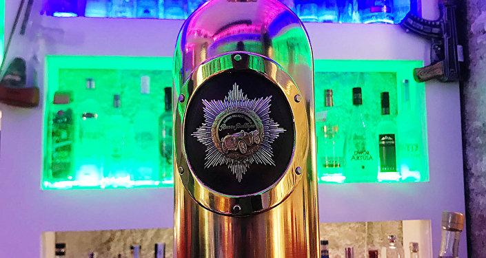 Bouteille de vodka Russo-Baltique