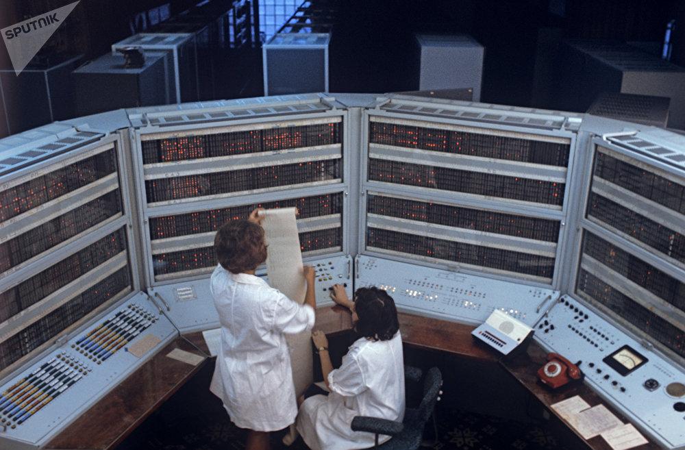 Des employés du centre informatique d'Akademgorodok,à Novossibirsk