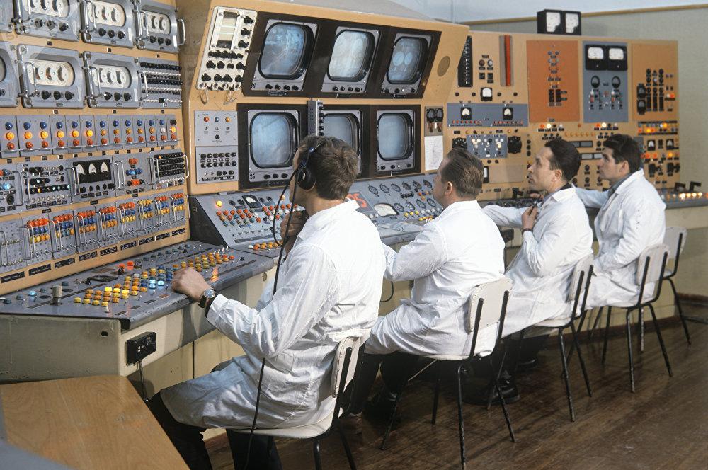 Poste de contrôle d'un banc d'essai des moteurs pour fusées