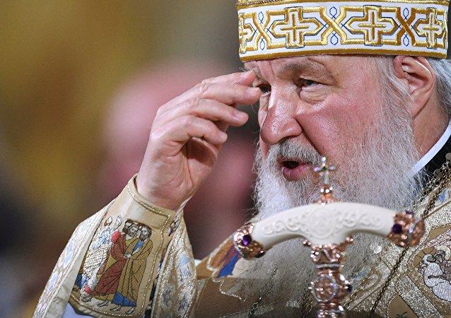 Le Patriarche Cyrille célèbre une liturgie en la cathédrale du Christ-Sauveur à Moscou