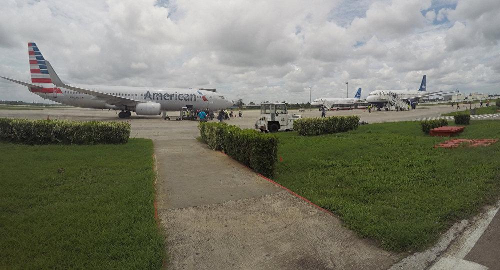 Un avion de la compagnie aérienne American Airlines