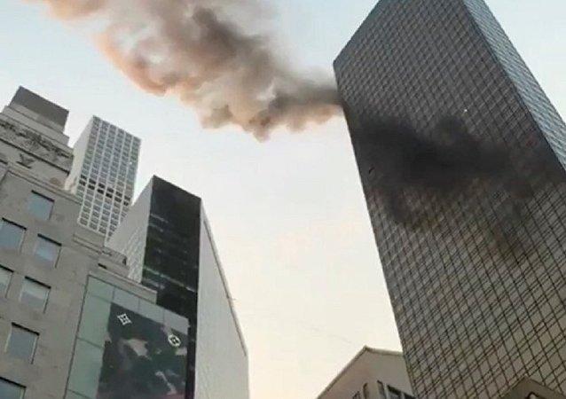 Incendie au sommet de la Trump Tower à New York