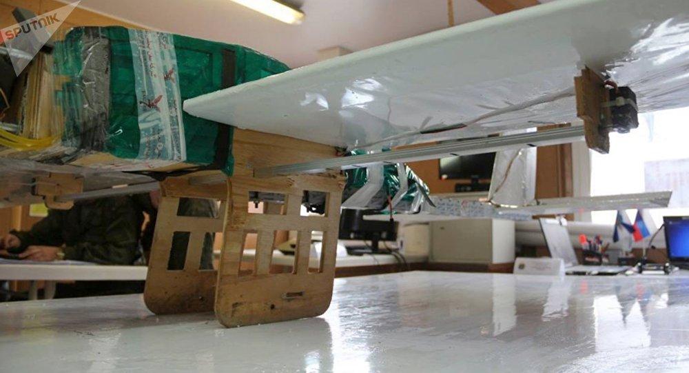 Un drone des terroristes, qui a attaqué la base de Hmeimim