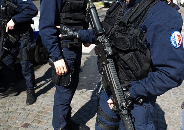 Police à Paris. Photo d'archive