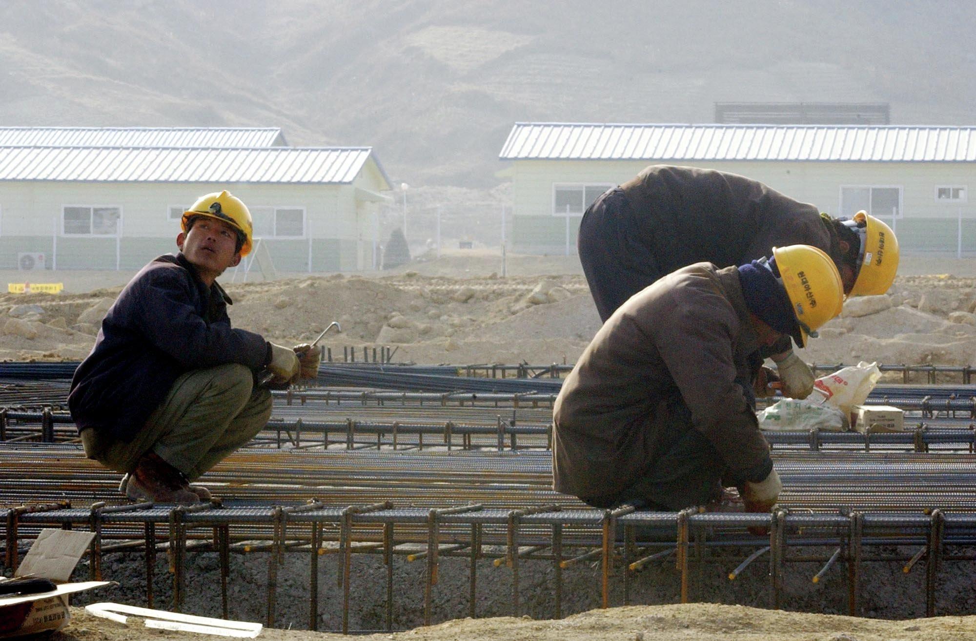 La construction de la zone industrielle de Kaesong
