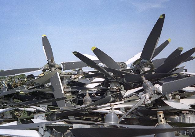 Des restes d'avions Tu-95 démantelés dans le cadre du traité START