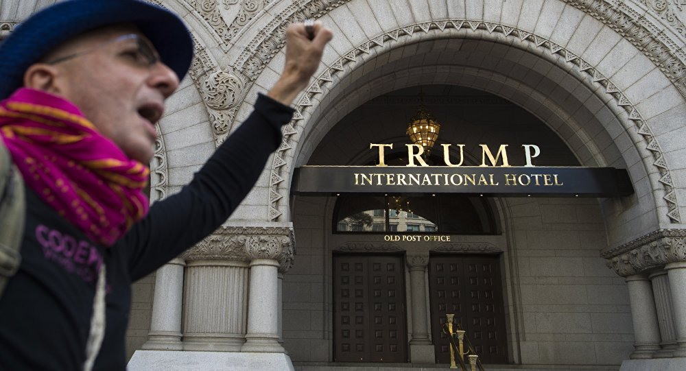 La façade de l'hôtel de Trump. Photo d'archive