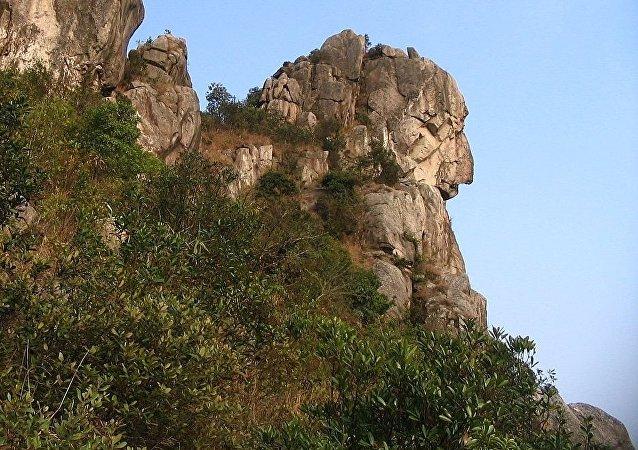 La montagne Lion Rock, près de Hong-Kong