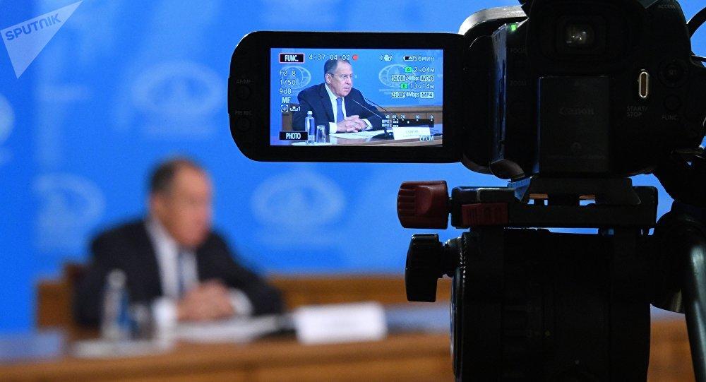 La conférence de presse du chef de la diplomatie russe Sergueï Lavrov 2018