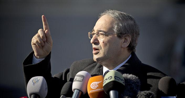 Le vice-ministre syrien des Affaires étrangères Faisal Mekdad