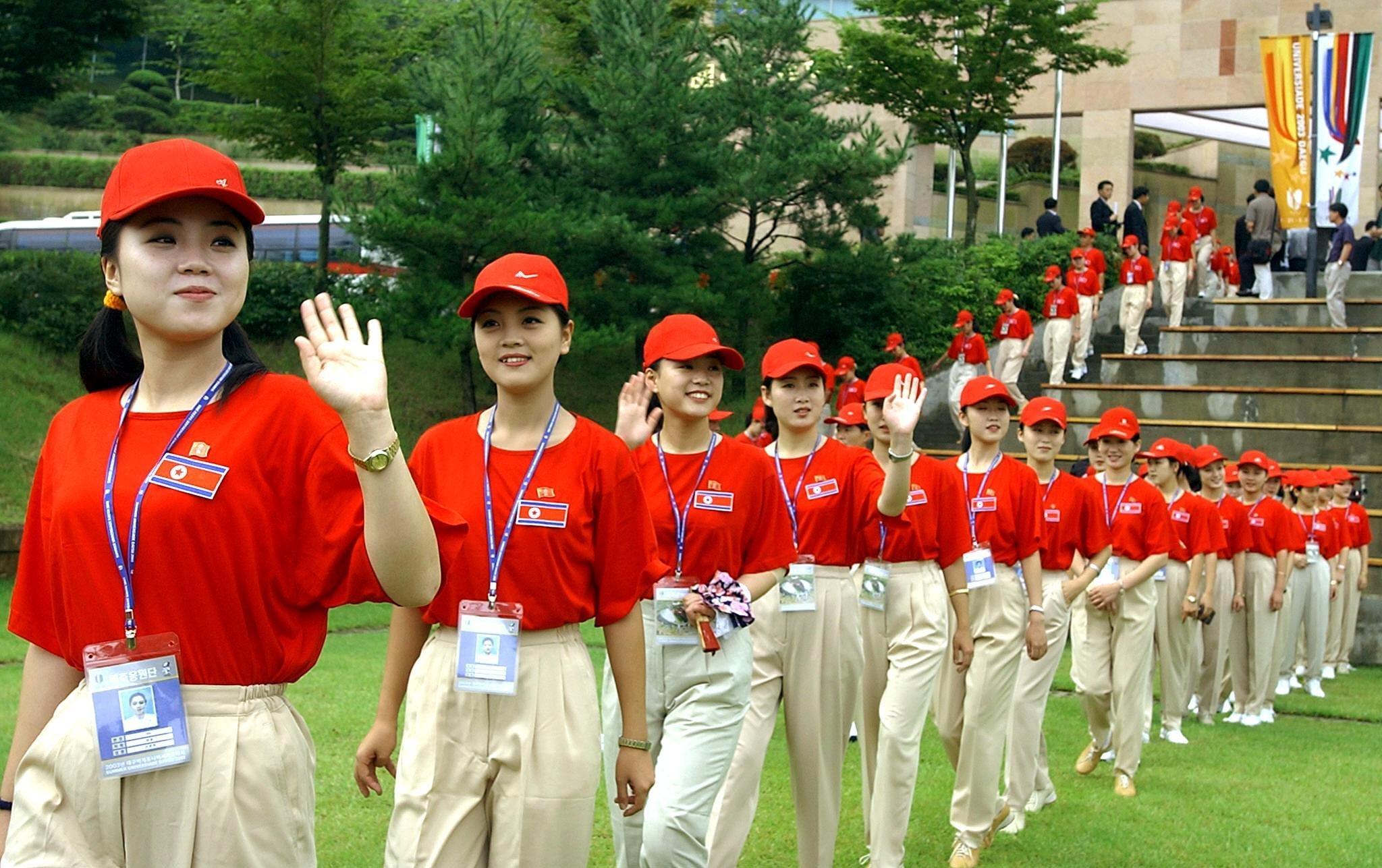 Pom-pom girls nord-coréennes
