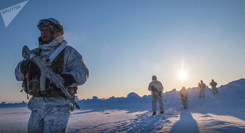 L'entraînement militaire en Arctique