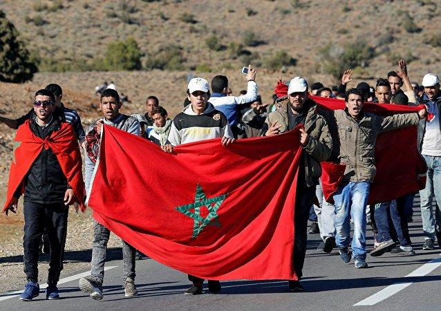 Journée de mobilisation à Jerada. Le 29 décembre 2017.