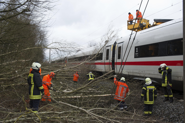 Un train en Allemagne le 18 janvier 2018