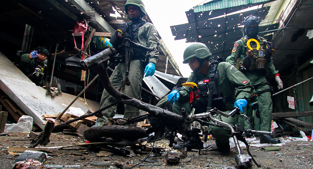 Plusieurs morts dans l'explosion d'une bombe sur un marché de Thaïlande