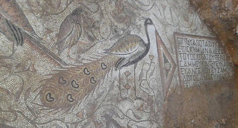 Mosaïque byzantine découverte par des sapeurs syriens