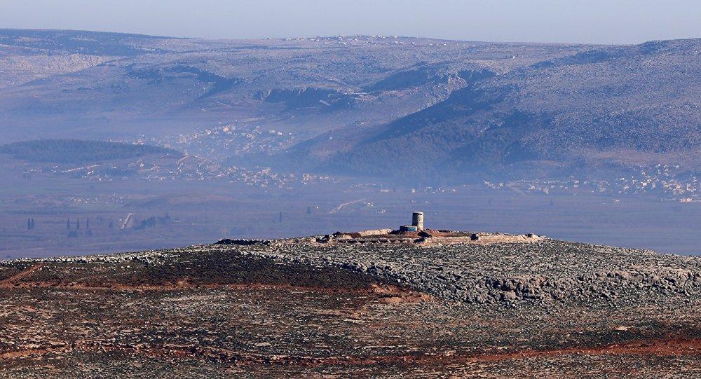 Une tour de guet des forces kurdes à Afrine. Le 20 janvier 2018.