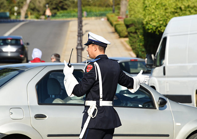 Policier marocain à Rabat