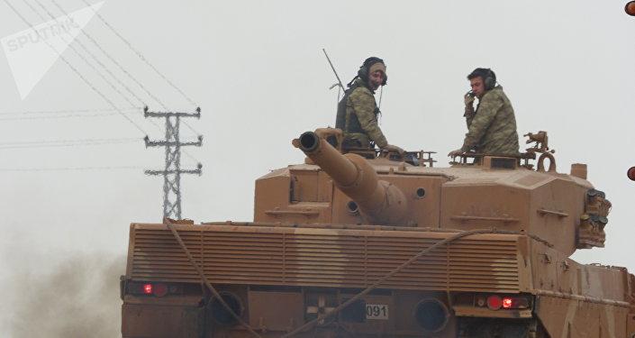 un char turc, Afrine