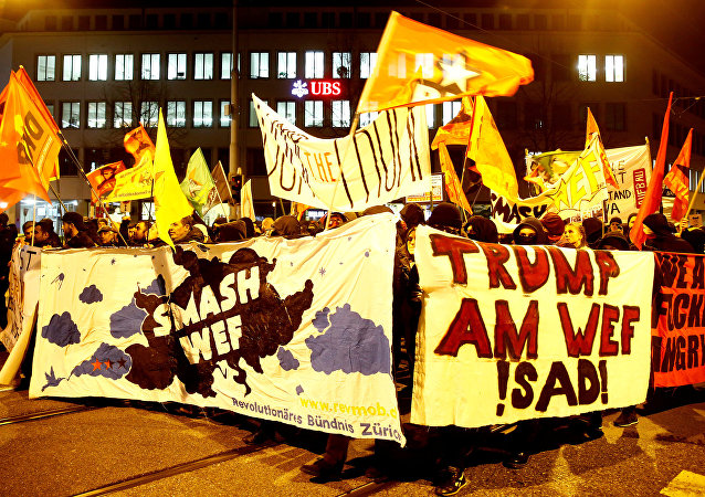 Les manifestations anti-Trump à Zurich